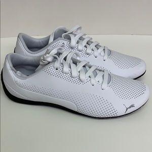 PUMA Men's Drift CAT Ultra Sneaker White Black 9.5